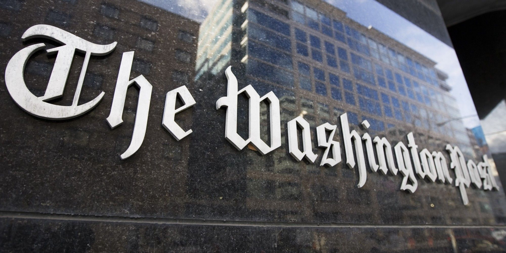 FILE - In this Feb. 27, 2008 file photo, The Washington Post building in Washington is shown. The Washington Post Co. reported a 69 percent jump in third-quarter profit Friday, Oct. 30, 2009, as its newspapers trimmed their losses and its cable TV and education divisions held steady.(AP Photo/Manuel Balce Ceneta, file)